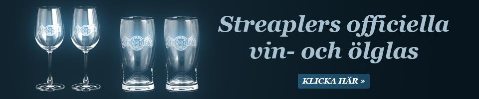 Streaplers vin och glas